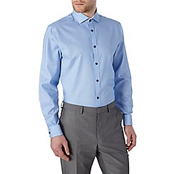 Burton - Tailored fit blue textured shirt