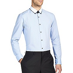 Burton - Blue contrast collar shirt