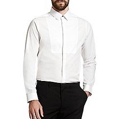 Burton - Skinny white textured bib shirt