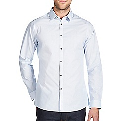 Burton - Blue geo print smart shirt