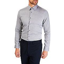 Burton - Charcoal slim fit formal shirt