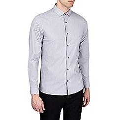 Burton - Grey skinny fit stretch formal shirt