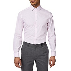 Burton - Pink stripe tailored fit cotton shirt