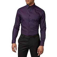 Burton - Purple spot slim fit cotton shirt