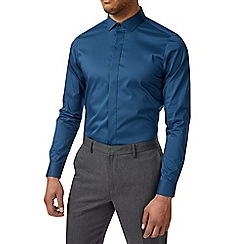 Burton - Teal skinny fit stretch shirt