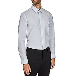 Burton - Grey slim fit textured shirt