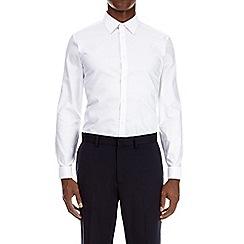 Burton - White slim fit double cuff oxford shirt