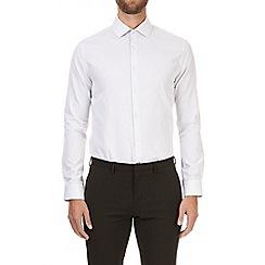Burton - Montague burton grey sketch design shirt