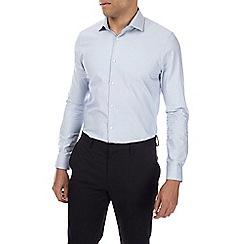 Burton - Montague burton blue spot design shirt