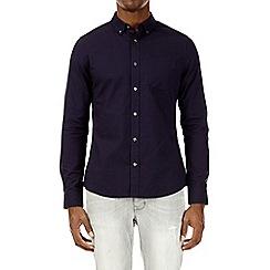 Burton - Purple skinny fit cotton pyramid dobby shirt