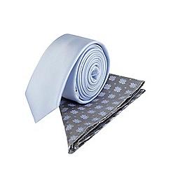 Burton - Slim lilac pattern tie & pocket square