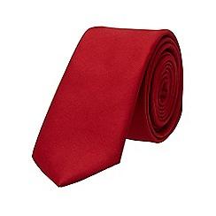 Burton - Red plain tie