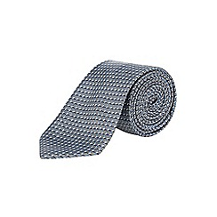 Burton - Tailored grey geometric tie