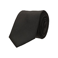 Burton - Slim black plain tie