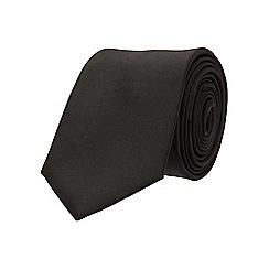 Burton - Slim black plain tie