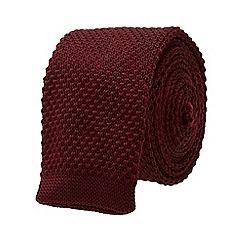 Burton - Slim burgundy knitted tie