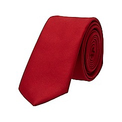 Burton - Red plain tie
