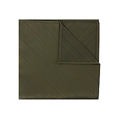 Burton - Green textured pocket square