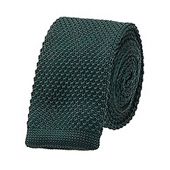Burton - Slim green knitted tie