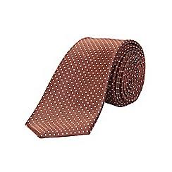 Burton - Slim rust polka dot tie