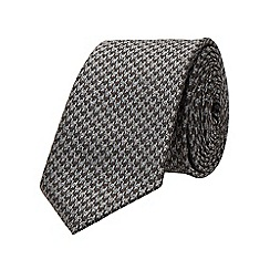Burton - Slim black pattern tie