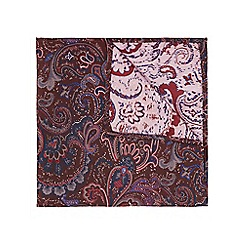 Burton - Burgundy paisley pocket square