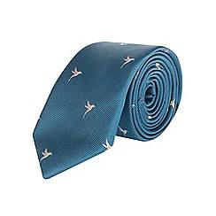 Burton - Slim green hummingbird tie