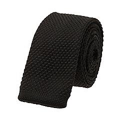Burton - Slim black knitted tie
