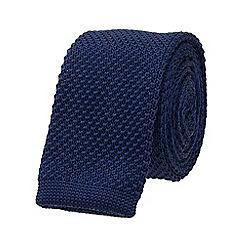 Burton - Slim navy knitted tie