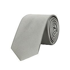Burton - Slim grey plain tie