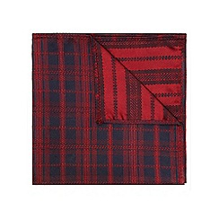 Burton - Navy burg check pocket square