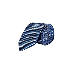 Burton - Navy blue cube design tie