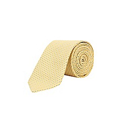 Burton - Yellow spot tie with clip