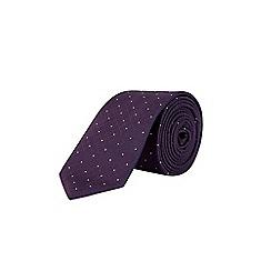 Burton - Purple polka dot design tie and pocket square