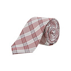 Burton - Red check silk slim tie