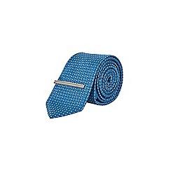 Burton - Teal semi plain tie