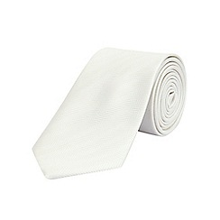 Burton - White tailored stripe tie