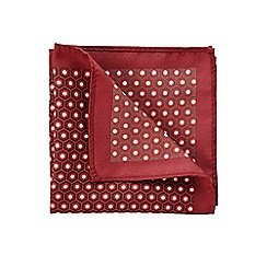 Burton - Burgundy geo pocket square