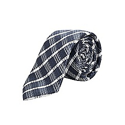 Burton - Slim navy check tie