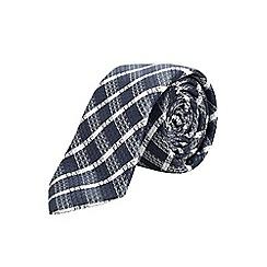 Burton - Slim navy check tie