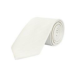 Burton - White tailored stripe tie