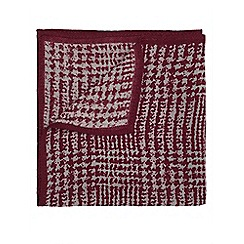 Burton - Burgundy wool pocket square