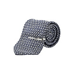 Burton - Tailored navy geo tie with clip