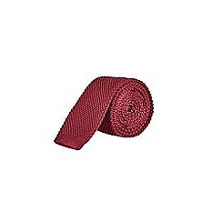 Burton - Burgundy knitted tie