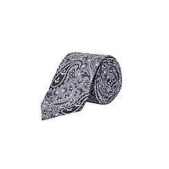 Burton - Grey paisley print tie