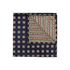 Burton - Navy pocket square