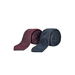 Burton - Slim two pack grey tie