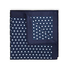 Burton - Navy geo print pocket square