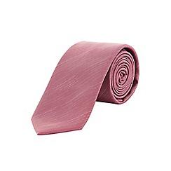 Burton - Slim dusky pink textured tie