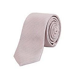 Burton - Slim neutral patterned tie